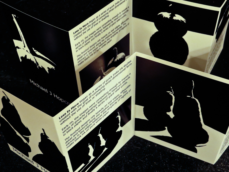 The accordion fold cards are visually appealing and stand on their own.