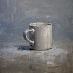 "Brian Blackham, ""A Cup"", 2015, oil on panel, 16 x 12"""