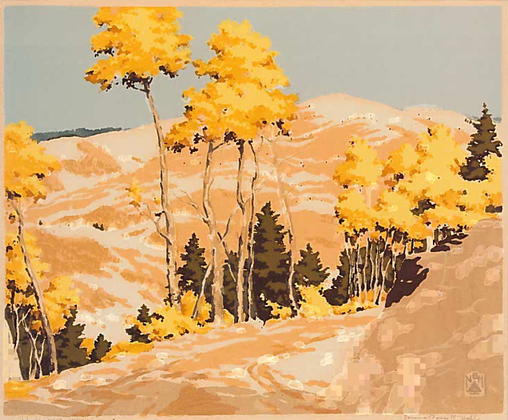 First Snow, Serigraph, 1946