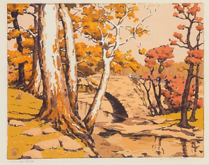 Game Creek Bridge, Serigraph,  1944-46