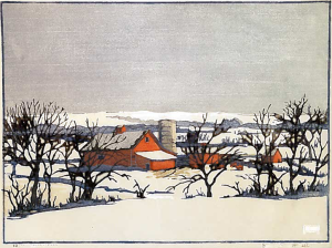 Jontra Farm, Color Block Print, 1937
