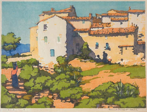 La Gaude -- France, Color Block Print, 1943