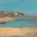 Odilon Redon, Village by the Sea in Brittany, ca. 1880