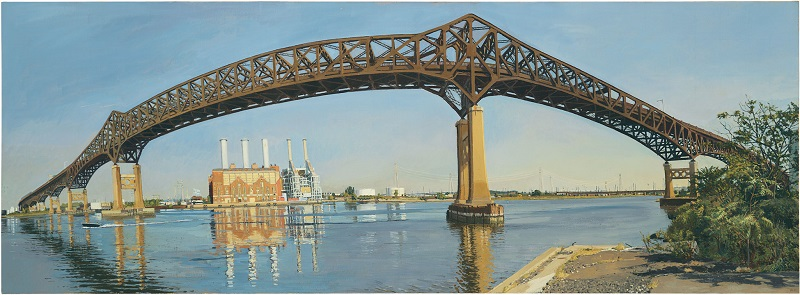 The Pulaski Skyway Crossing the Hackensack River, Rackstraw Downes, 2007