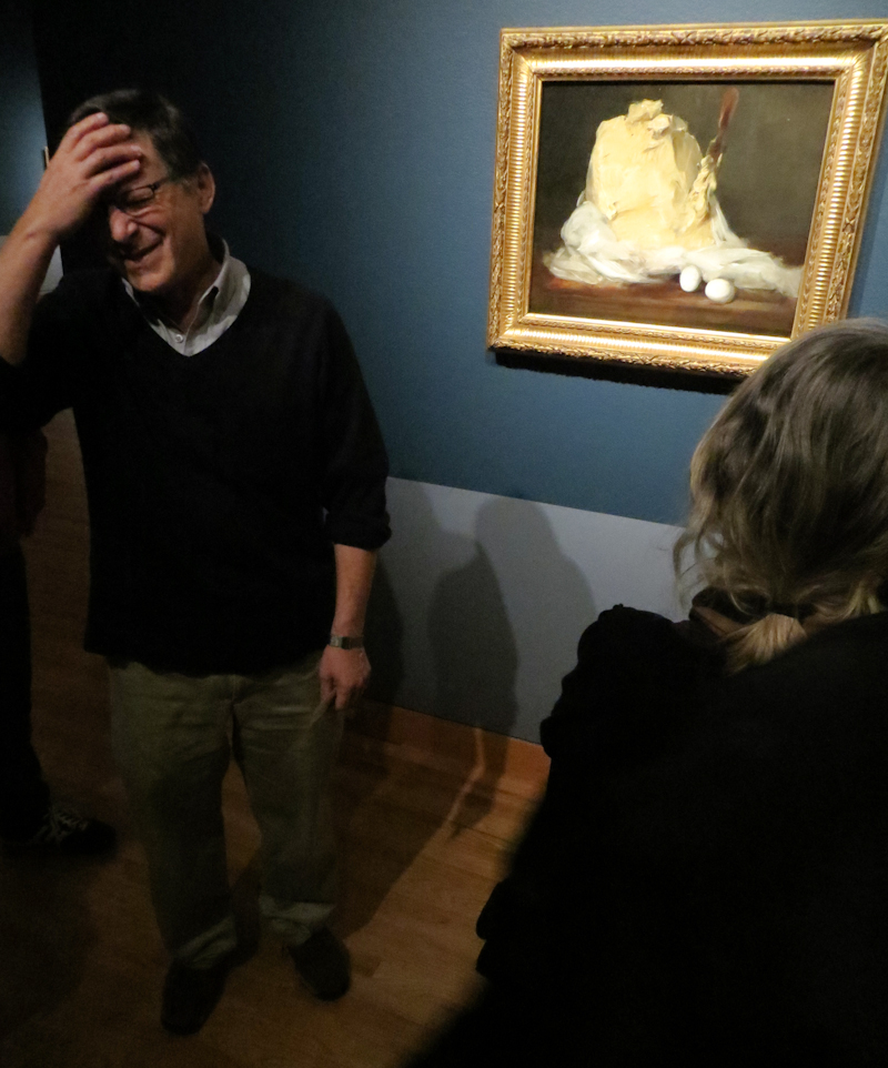 Gary reacting to Jen Graves' phallic interpretation of this piece. Antoine Vollon, Mound of Butter, 1875-85
