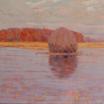 "Arthur Wesley Dow, The Red Island, 1907, Oil on canvas, 25 5/8"" x 35 5/8"""