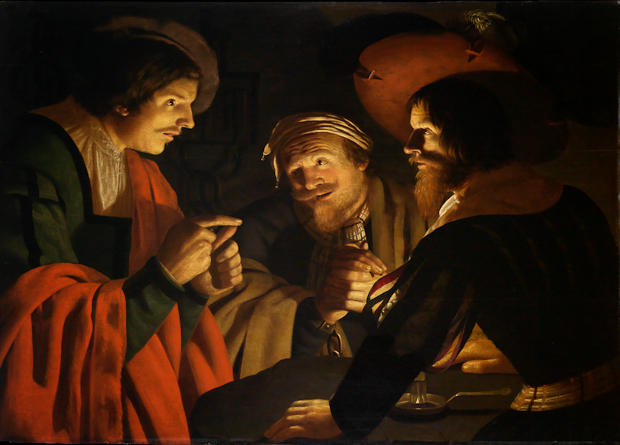 "Crijn Hendricksz Volmarijn, Joseph Interpreting the Dreams of Pharaoh's Butler and Baker, c 1631-37, Oil on panel, 35"" x 48"""