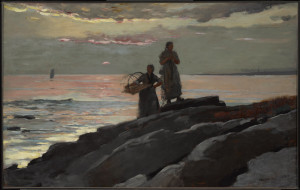 "Winslow Homer, Saco Bay,  1896, Oil on canvas, 23 13/16"" x 37 15/16"""