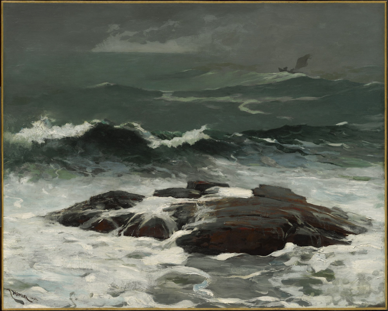 "Winslow Homer, Summer Squall, 1904, Oil on canvas, 24 1/4"" x 30 1/4"""