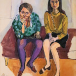 Alice Neel, Wellesley Girls (Kiki Djos '68 and Nancy Selvage '67), 1967, Oil on canvas