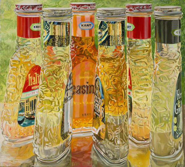 Janet Fish, Kraft Salad Dressing, 1973, Oil on canvas