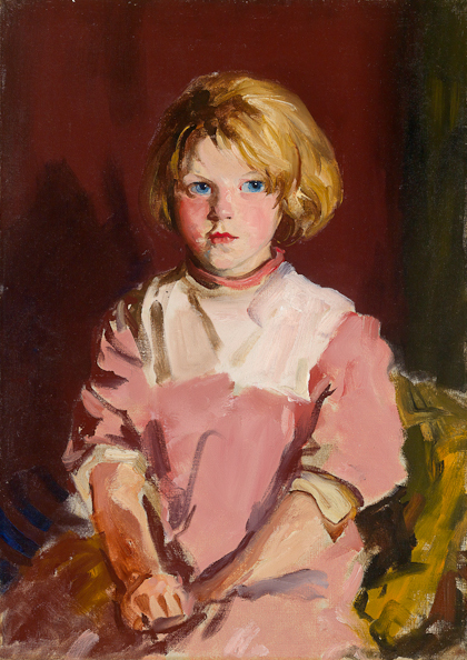 "Robert Henri, Annie Lavelle, 1928, Oil on canvas, 27 3/8"" x 19 3/8"""